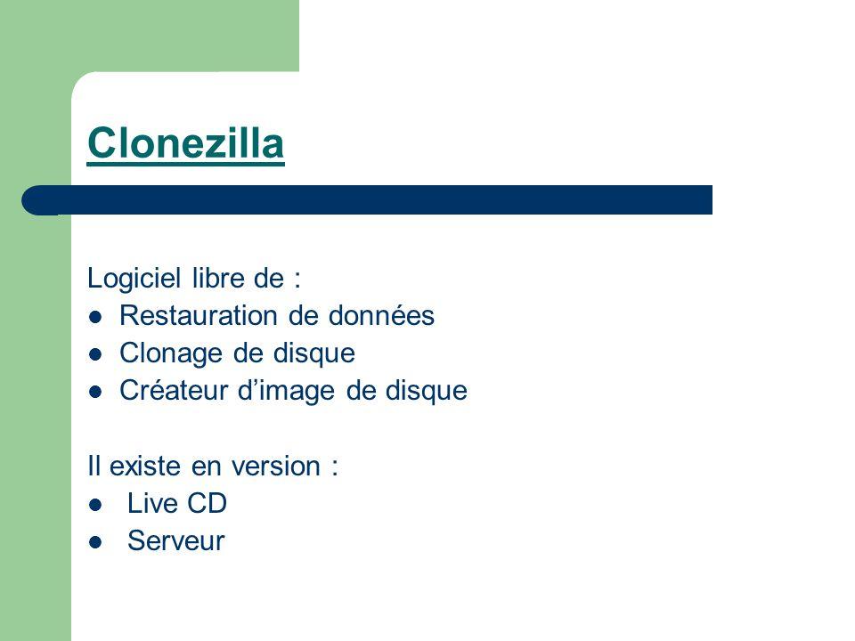 CLONEZILLA GRATUIT