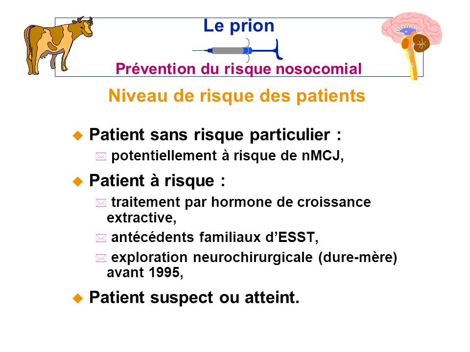 Niveau de risque des patients