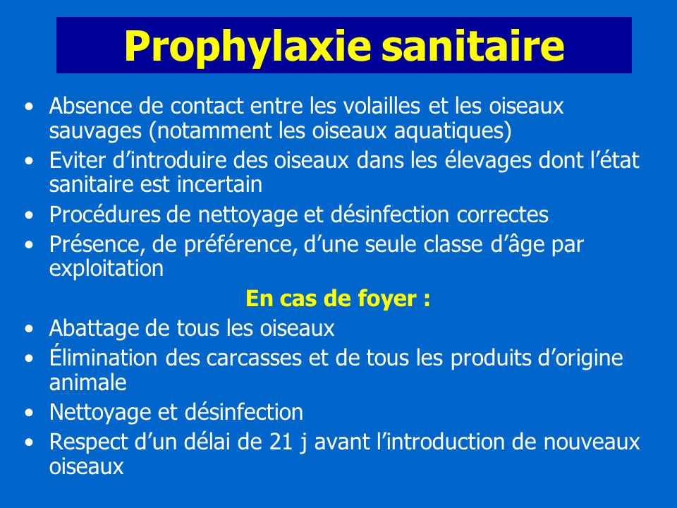 Prophylaxie sanitaire