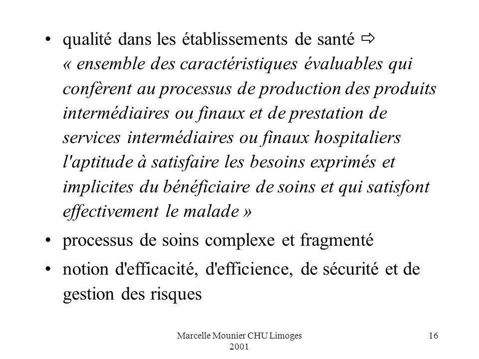 Marcelle Mounier CHU Limoges 2001