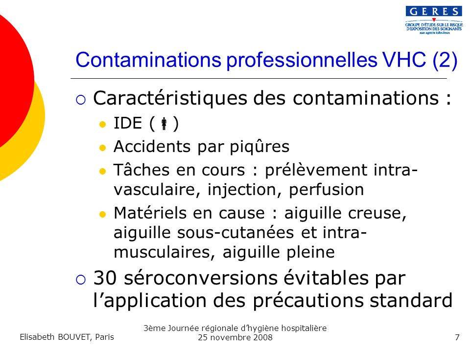 Contaminations professionnelles VHC (2)