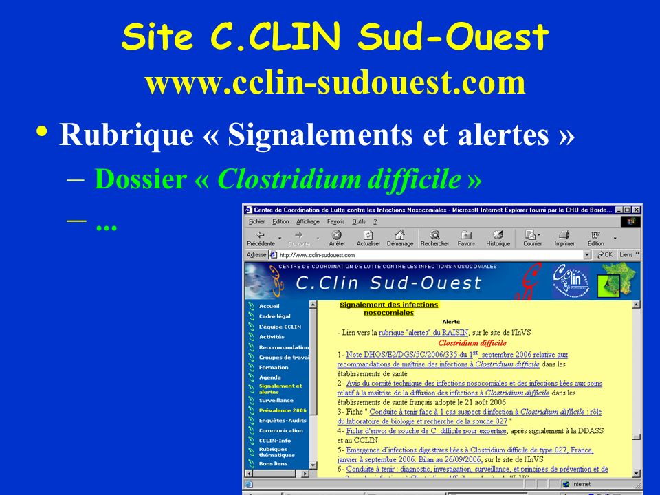 Site C.CLIN Sud-Ouest