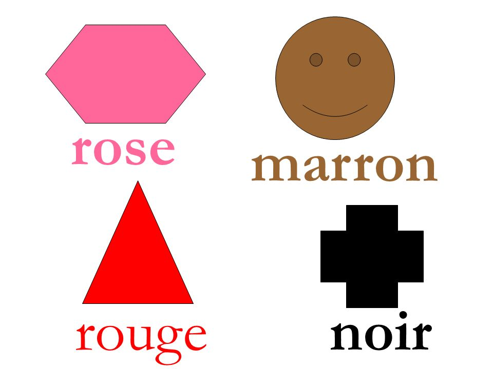 rose marron rouge noir