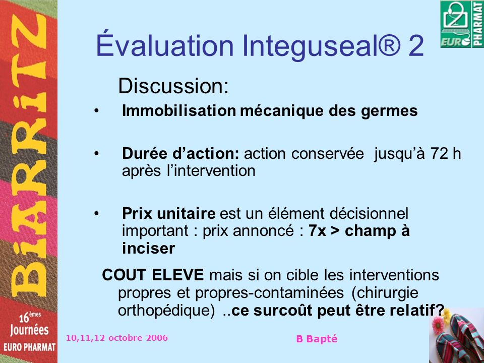 Évaluation Integuseal® 2