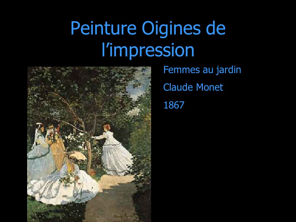Peinture Oigines de l'impression