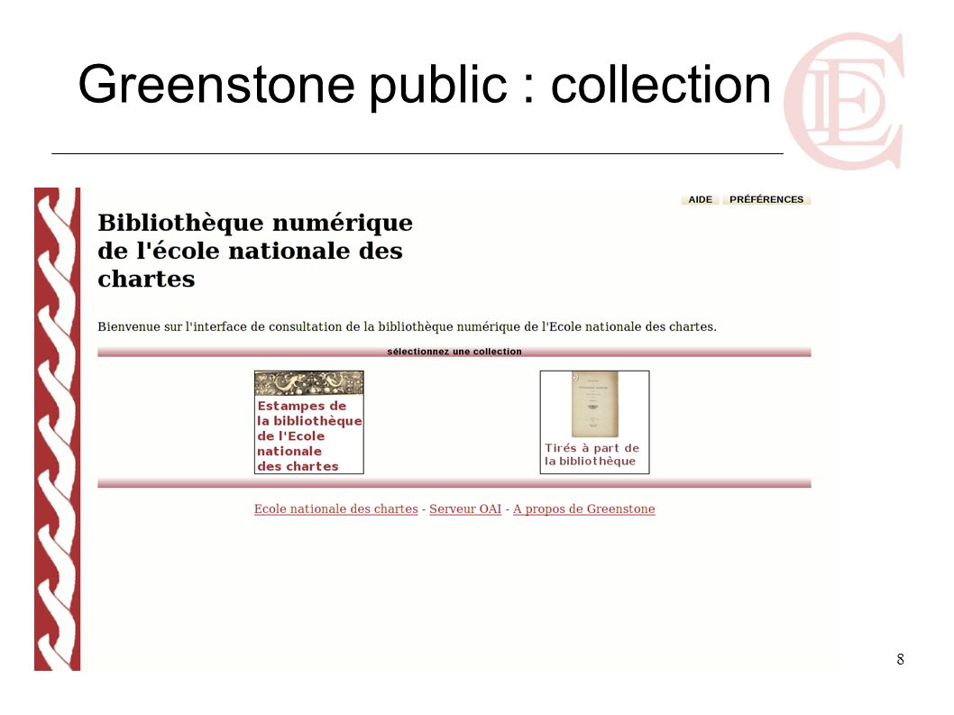 Greenstone public : collection