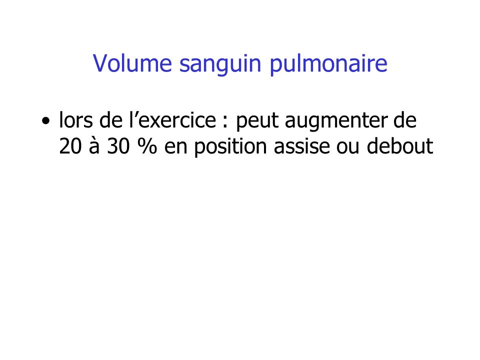 Volume sanguin pulmonaire