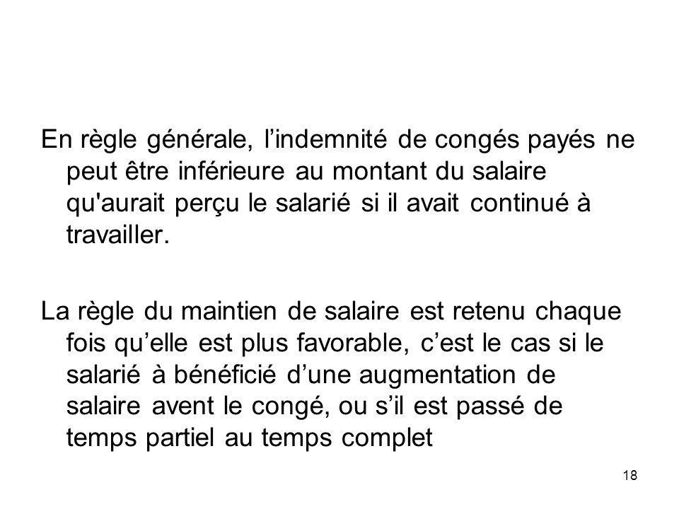 Conges Payes Le Droit Aux Conges Payes Est Ouvert A Tout Salarie Qui