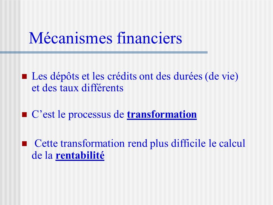 Mécanismes financiers
