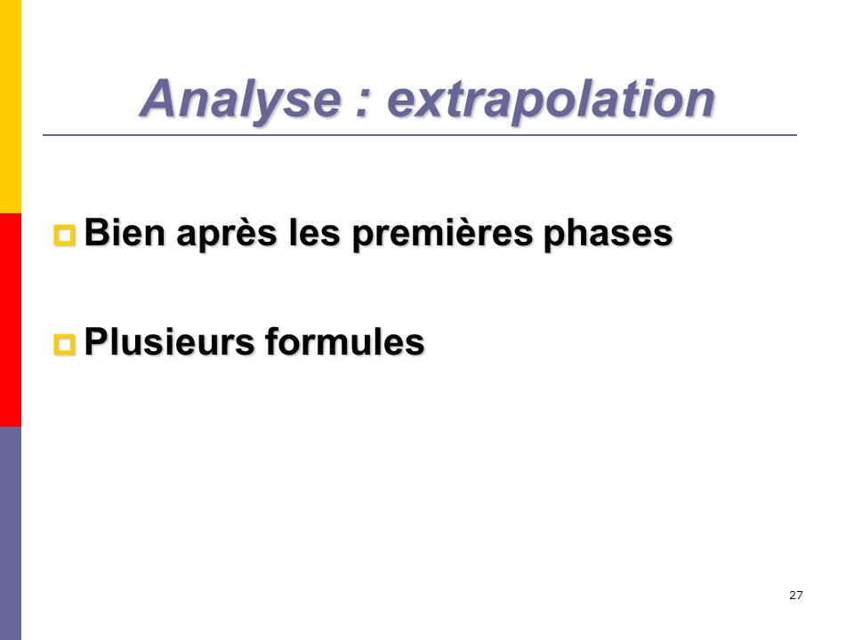 Analyse : extrapolation
