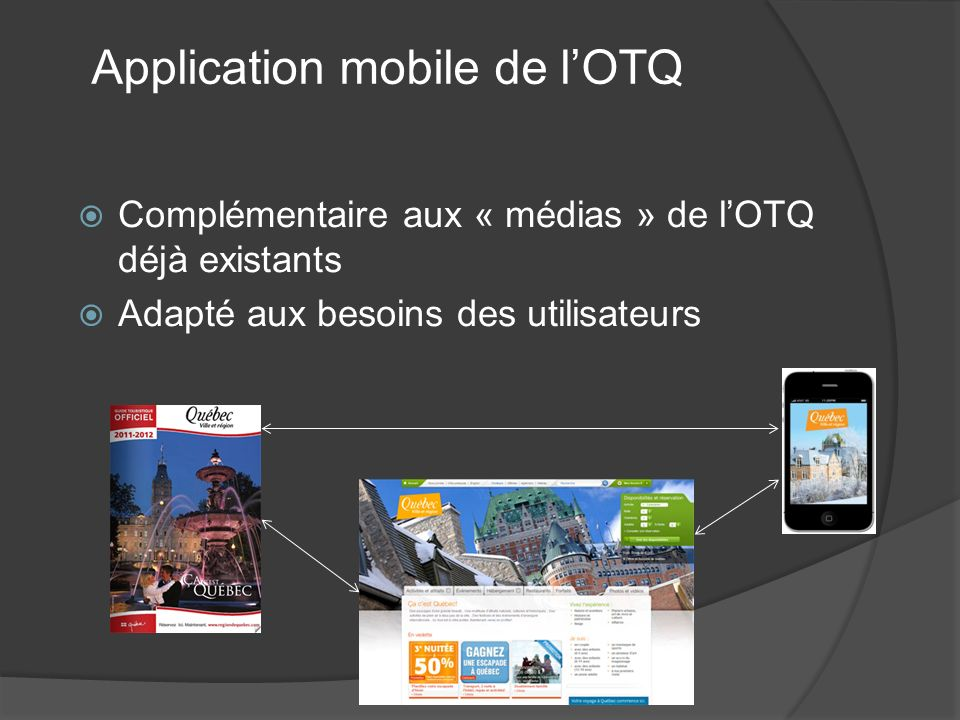 Application mobile de l'OTQ