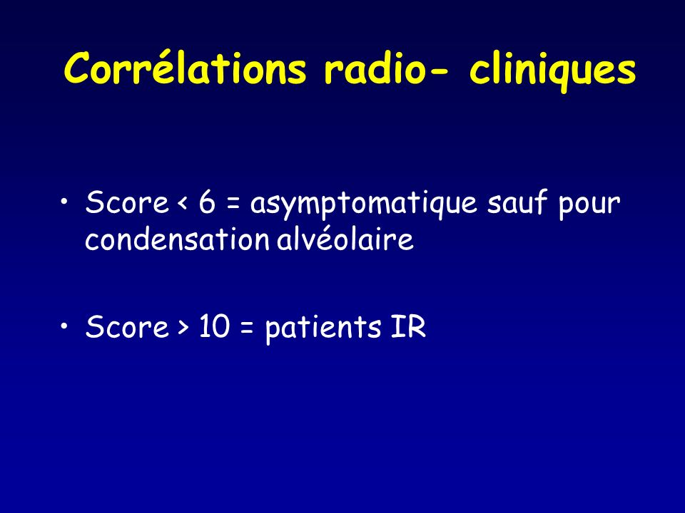 Corrélations radio- cliniques