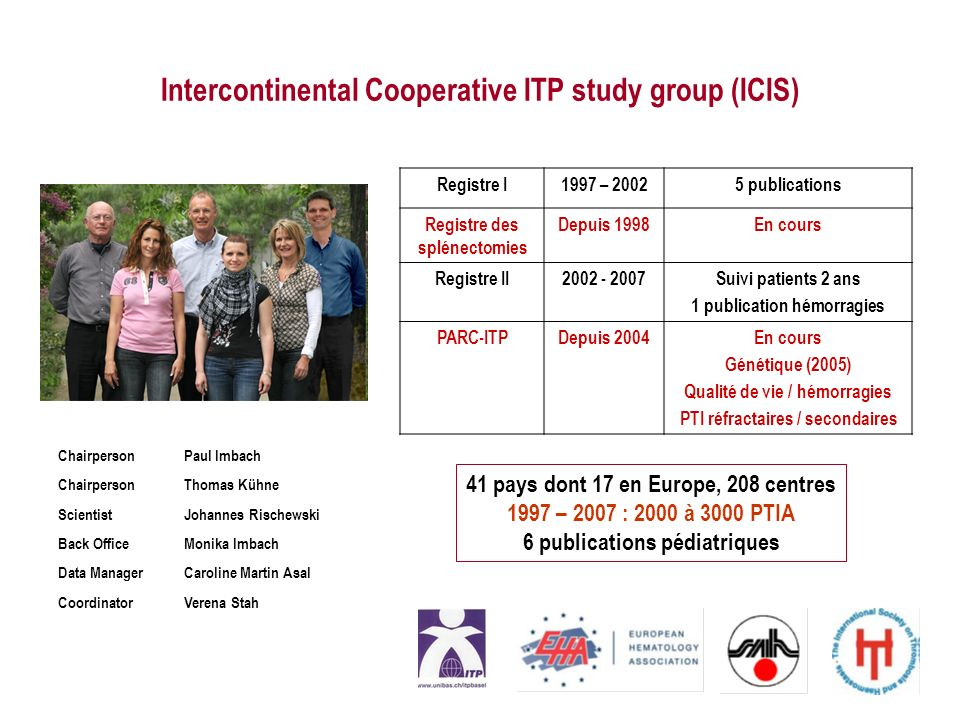 Intercontinental Cooperative ITP study group (ICIS)