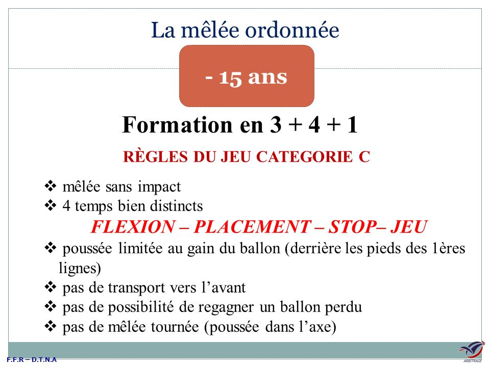 RÈGLES DU JEU CATEGORIE C FLEXION – PLACEMENT – STOP– JEU