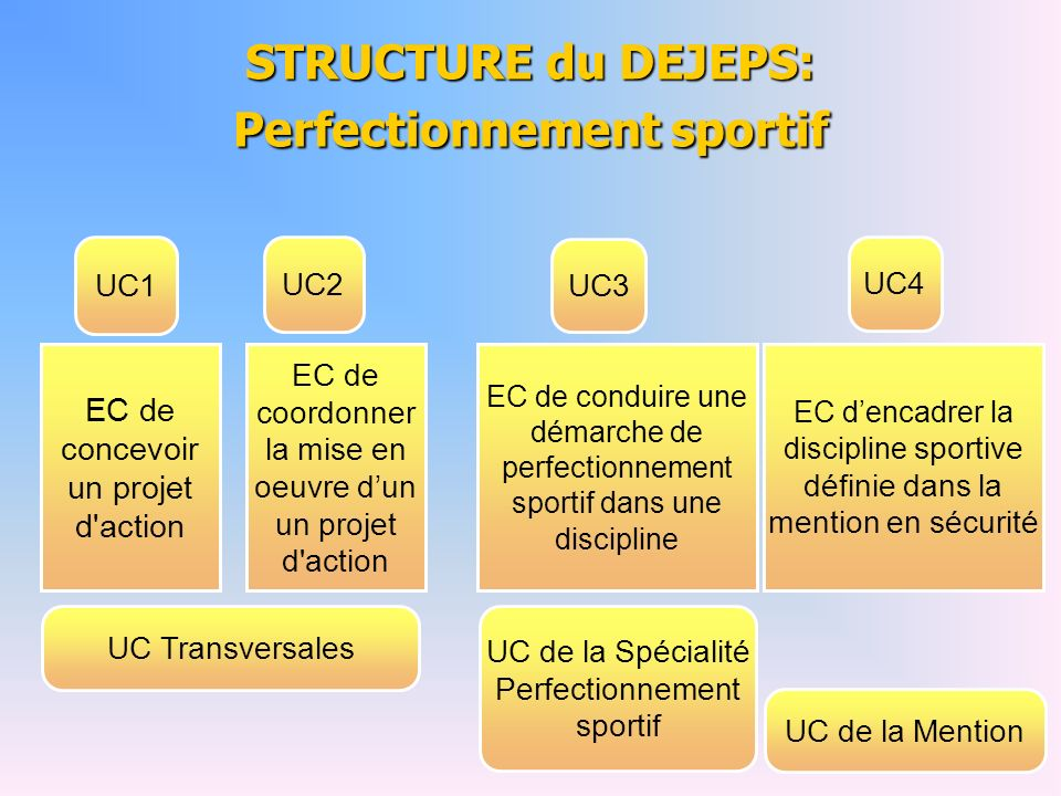 STRUCTURE du DEJEPS: Perfectionnement sportif