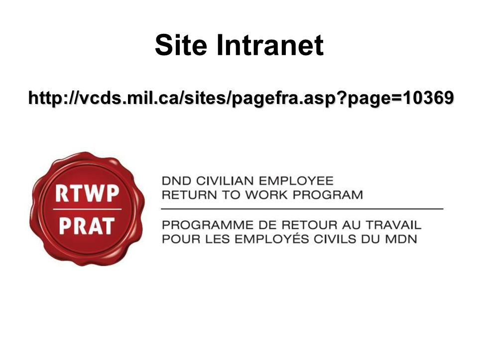 Site Intranet http://vcds.mil.ca/sites/pagefra.asp page=10369