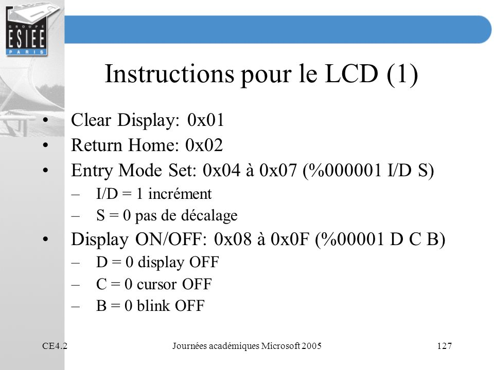 Instructions pour le LCD (1)