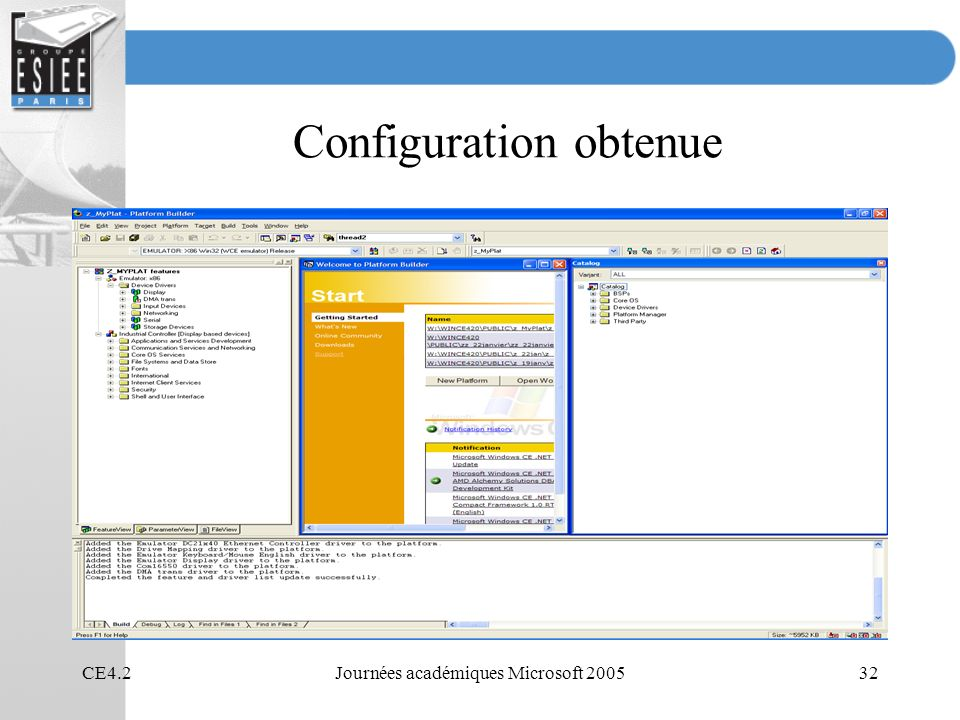 Configuration obtenue