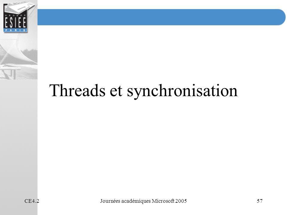 Threads et synchronisation