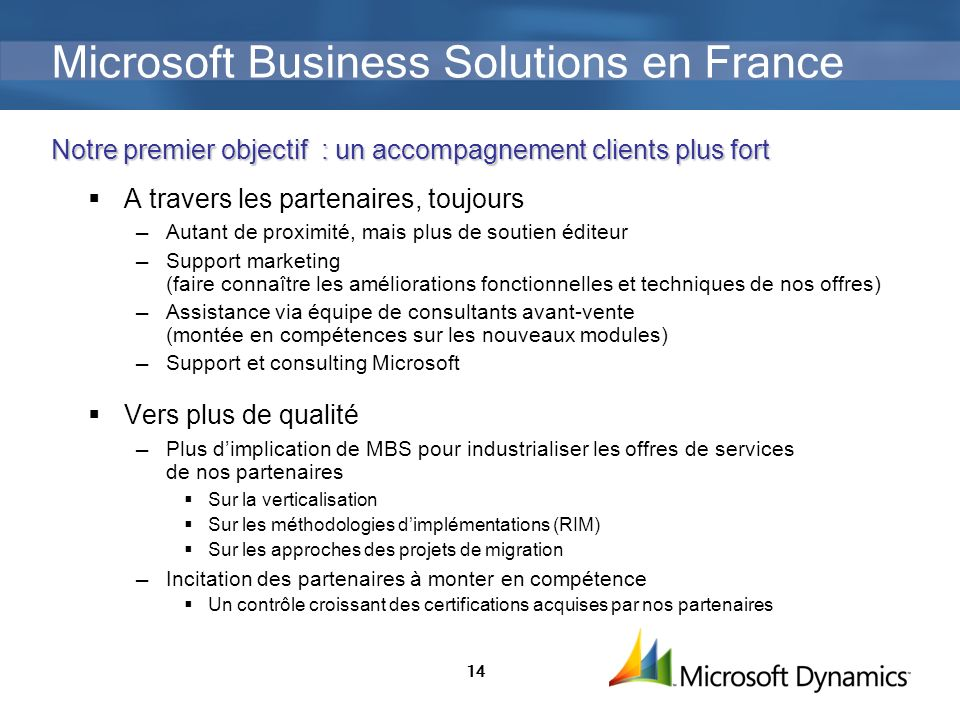 Microsoft Business Solutions en France