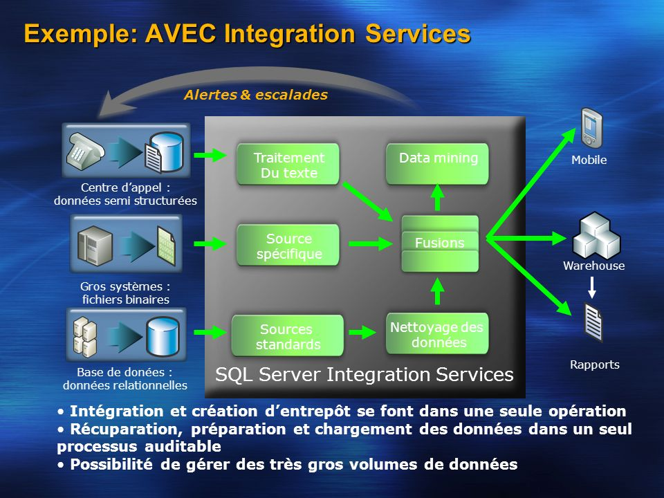 Exemple: AVEC Integration Services