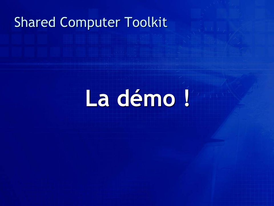 Shared Computer Toolkit