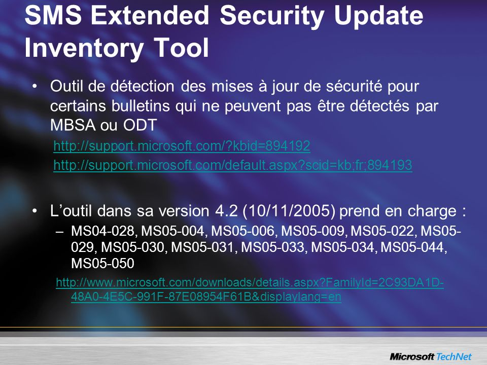 SMS Extended Security Update Inventory Tool