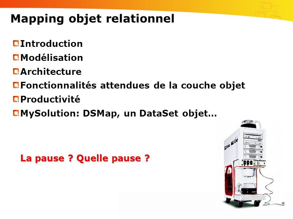 Mapping objet relationnel