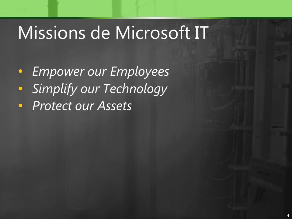 Missions de Microsoft IT