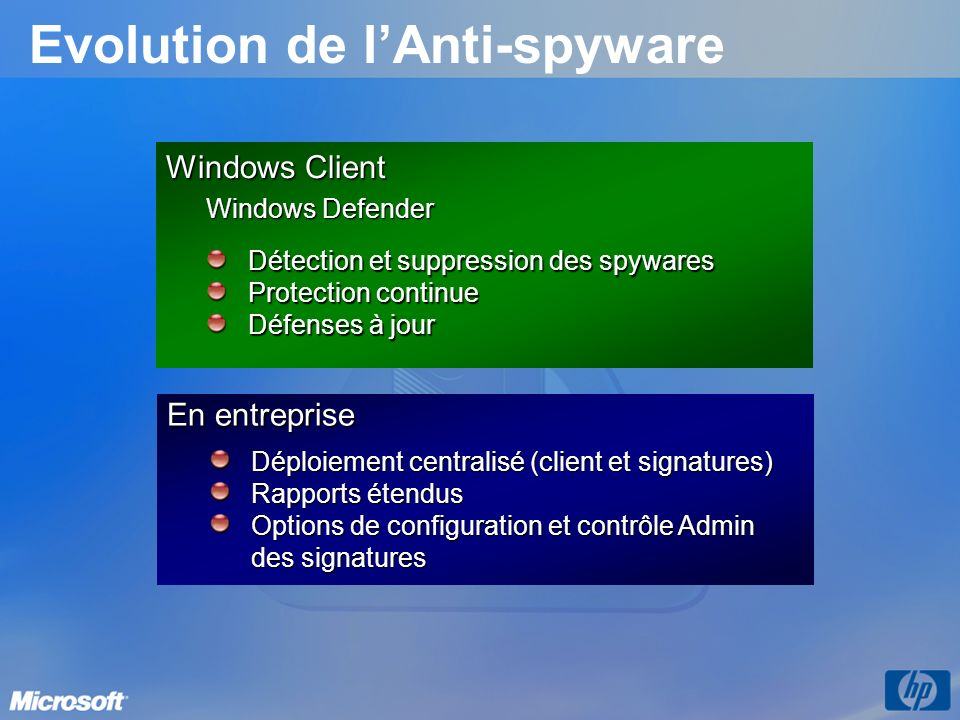 Evolution de l'Anti-spyware