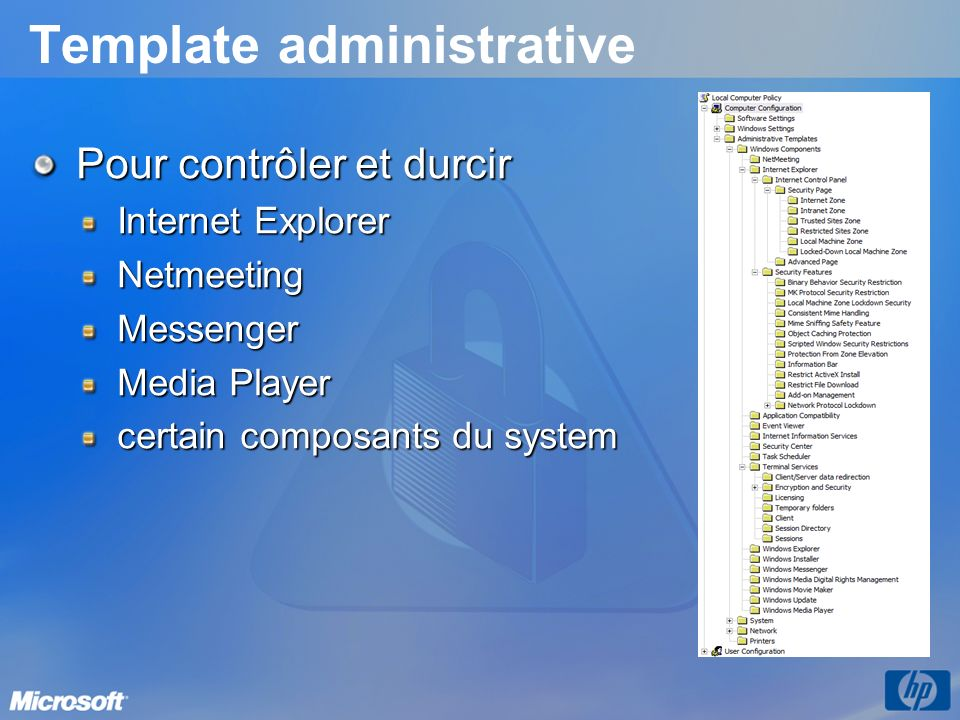Template administrative