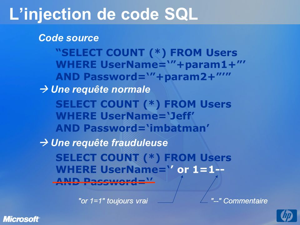 L'injection de code SQL