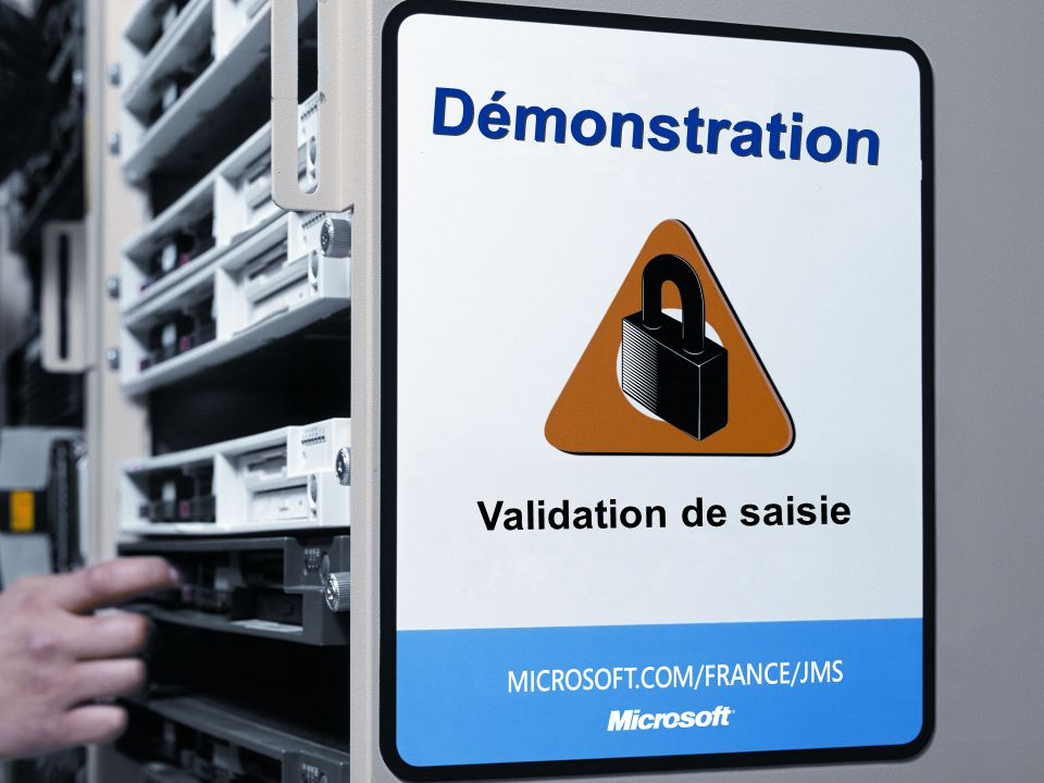 Démonstration Validation de saisie 3/26/2017 3:56 PM