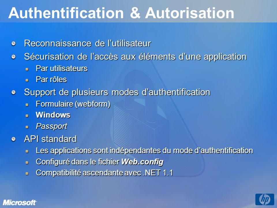 Authentification & Autorisation