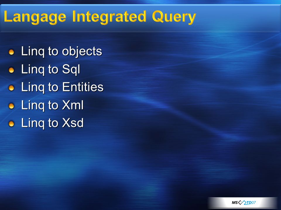 Langage Integrated Query