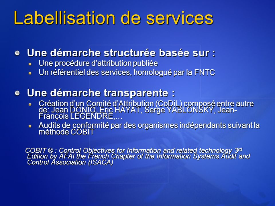 Labellisation de services