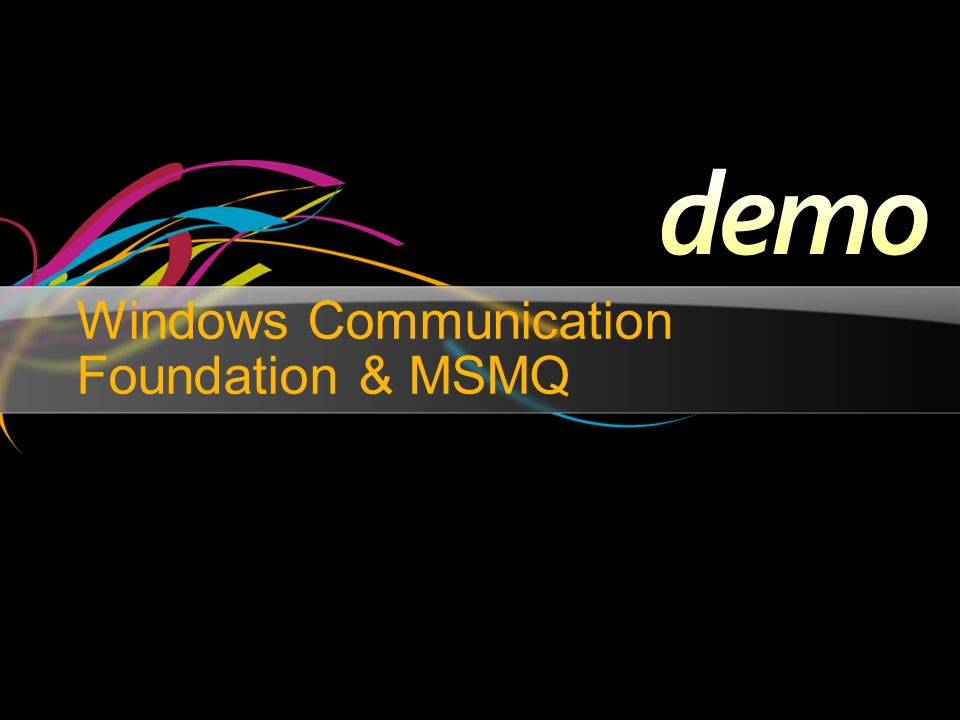 Windows Communication Foundation & MSMQ
