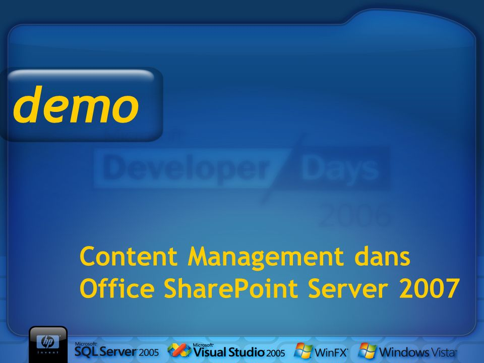 Content Management dans Office SharePoint Server 2007