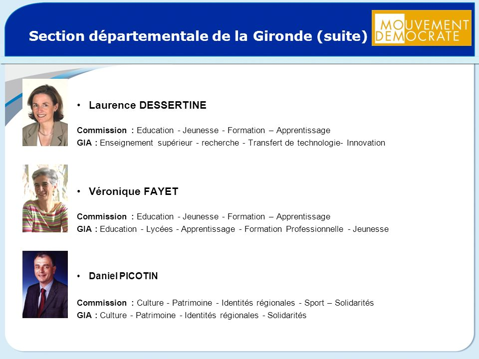 Section départementale de la Gironde (suite)
