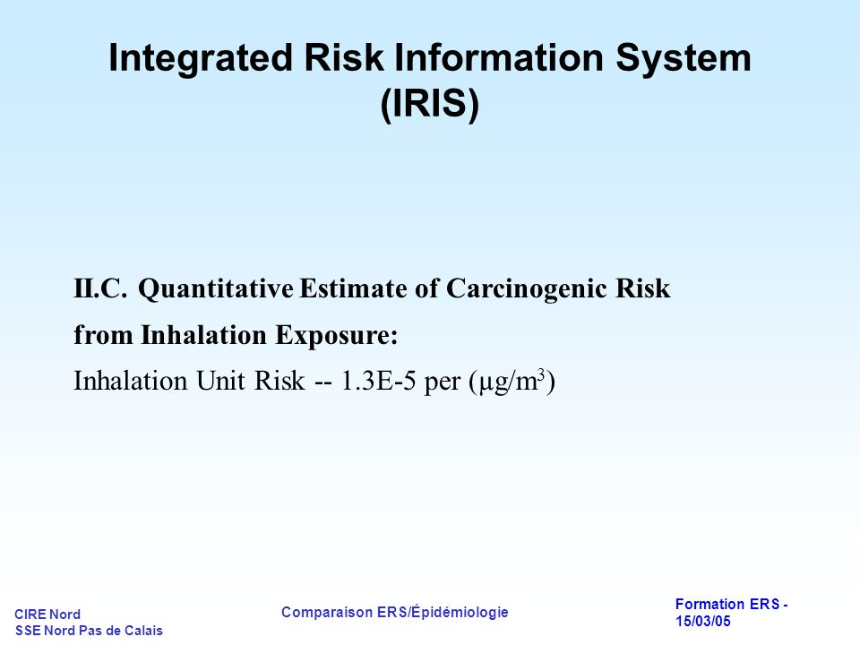Integrated Risk Information System (IRIS)