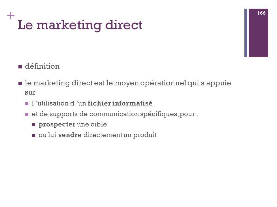 Le marketing direct définition
