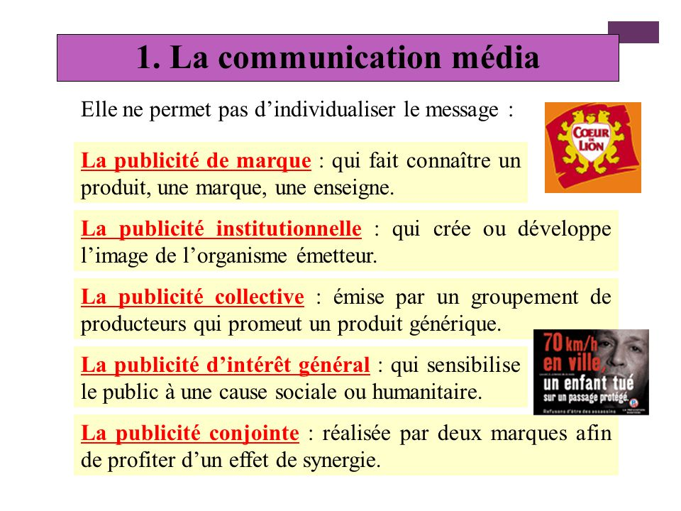 1. La communication média