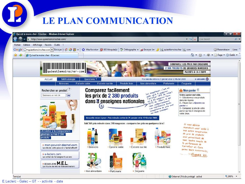 LE PLAN COMMUNICATION
