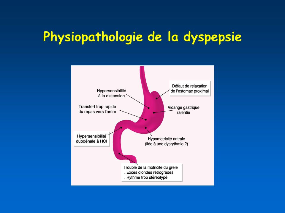 Physiopathologie de la dyspepsie