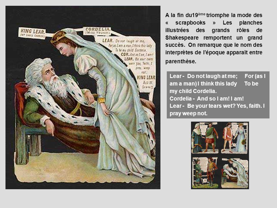 Art 1876 Shakespeare Print ~ King Lear ~ Lear And Cordelia