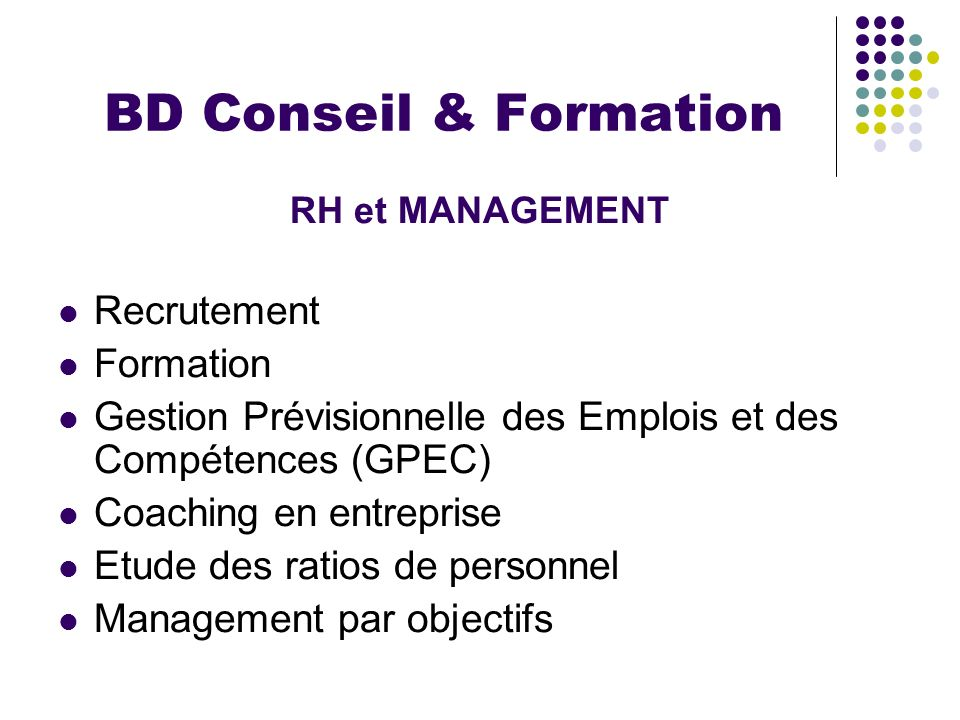 BD Conseil & Formation Recrutement Formation