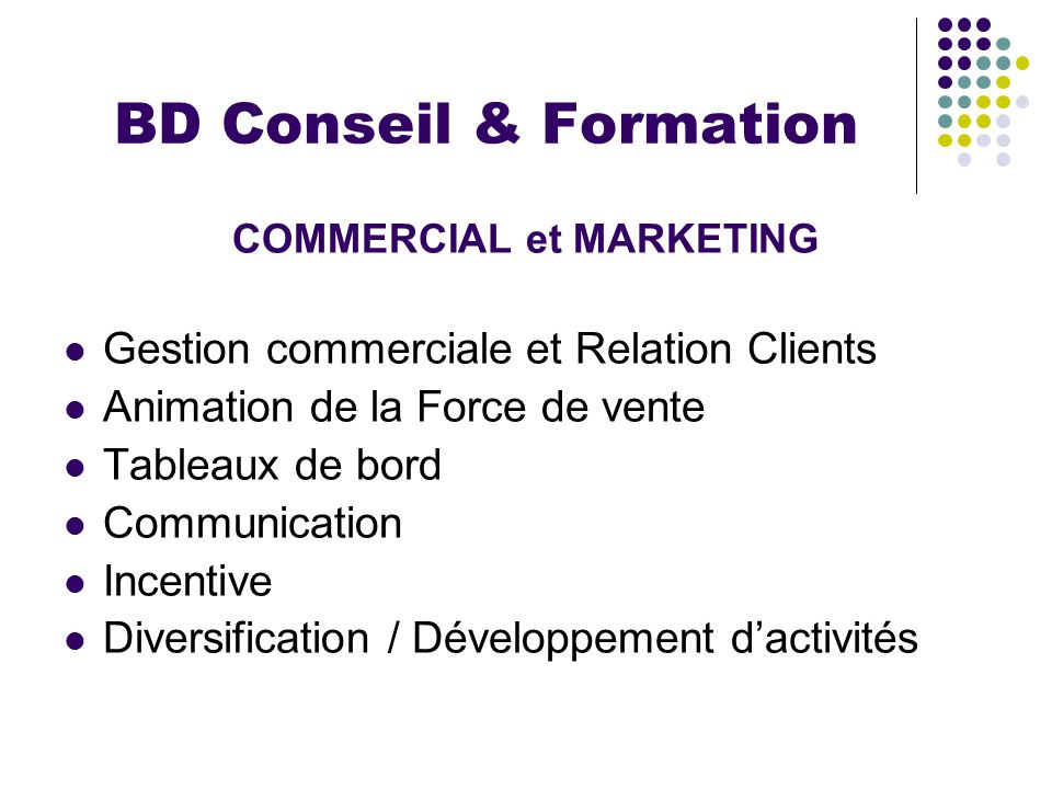 COMMERCIAL et MARKETING