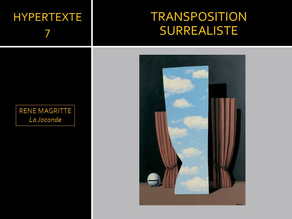 TRANSPOSITION SURREALISTE