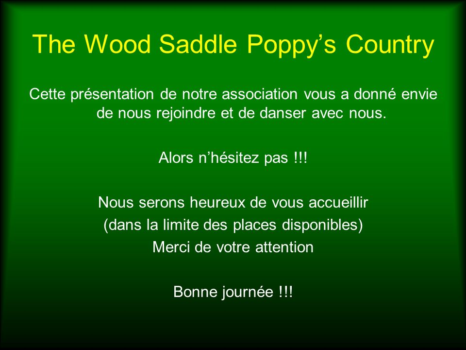 The Wood Saddle Poppy's Country