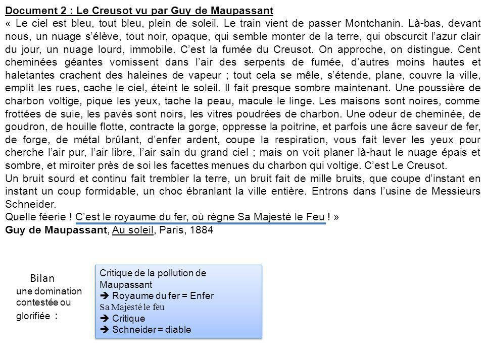 Bilan Document 2 : Le Creusot vu par Guy de Maupassant